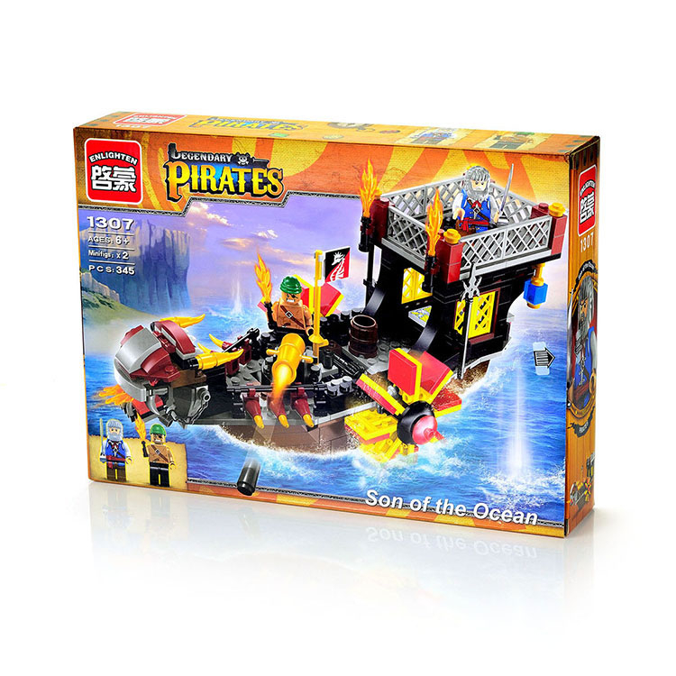 Конструктор Enlighten Brick Pirates. Son of the Ocean enlighten 1312 pirates of the caribbean armor battleship corsair boat assemble model building blocks minifig kids toys gift