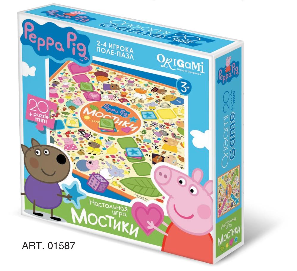Peppa Pig Peppa Pig Мостики настольная игра origami peppa pig азбука в чемоданчике