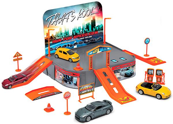 Игровой набор Welly Гараж 96020 игровой набор faro макси гараж 2 в 1 709