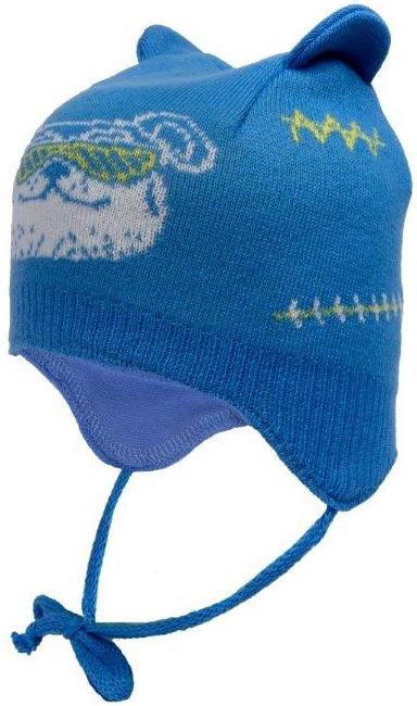 Головные уборы Barkito Шапка (ушанка) детская для мальчика Barkito, голубая шапка ушанка