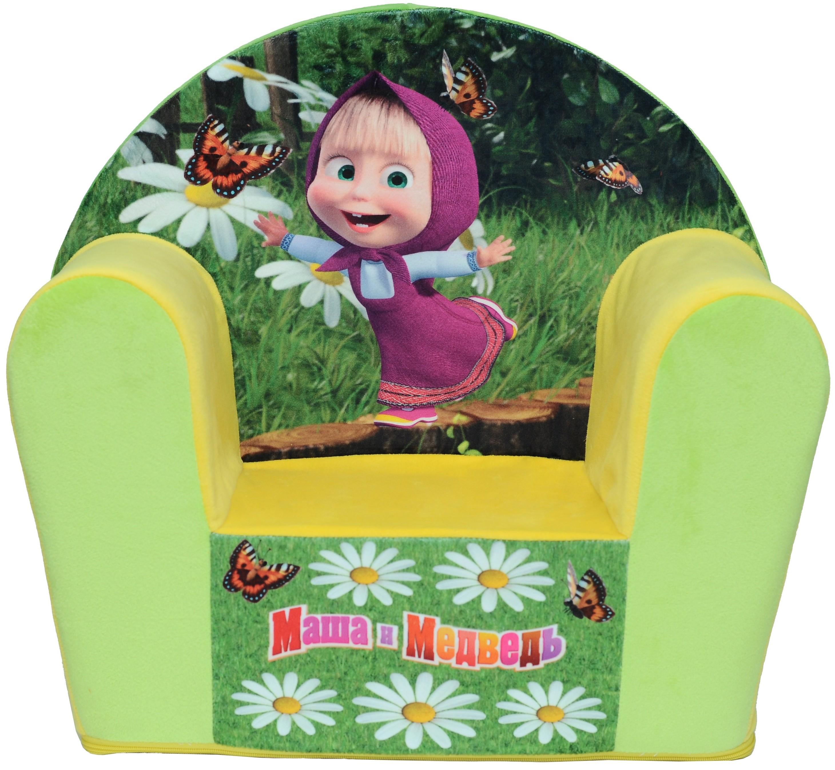 Мягкая мебель СмолТойс Маша и медведь смолтойс мягкое кресло скругленное маша и медведь смолтойс розовый