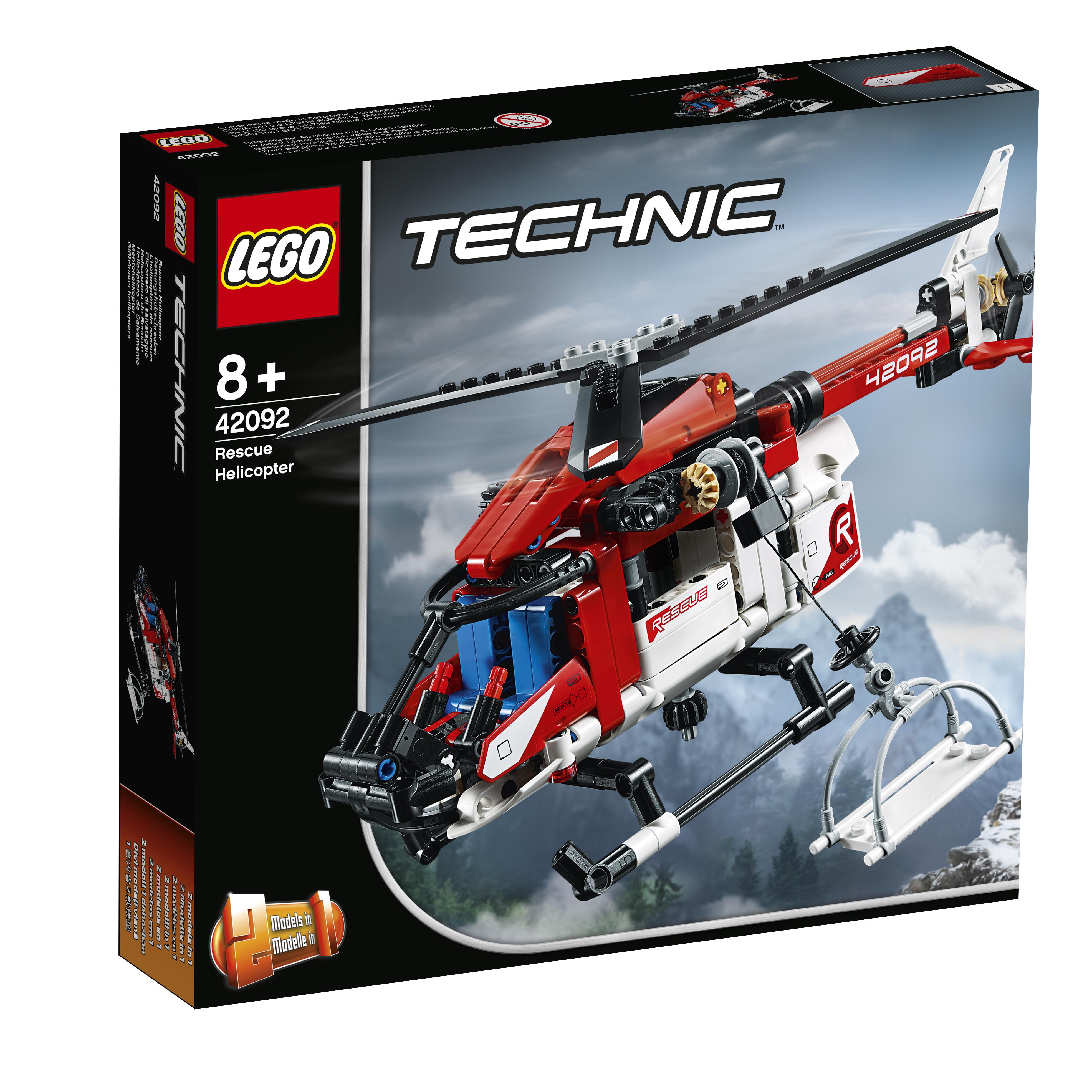 Конструктор LEGO Technic 42092 Спасательный вертолёт конструктор lego lego 42057 конструктор сверхлёгкий вертолёт