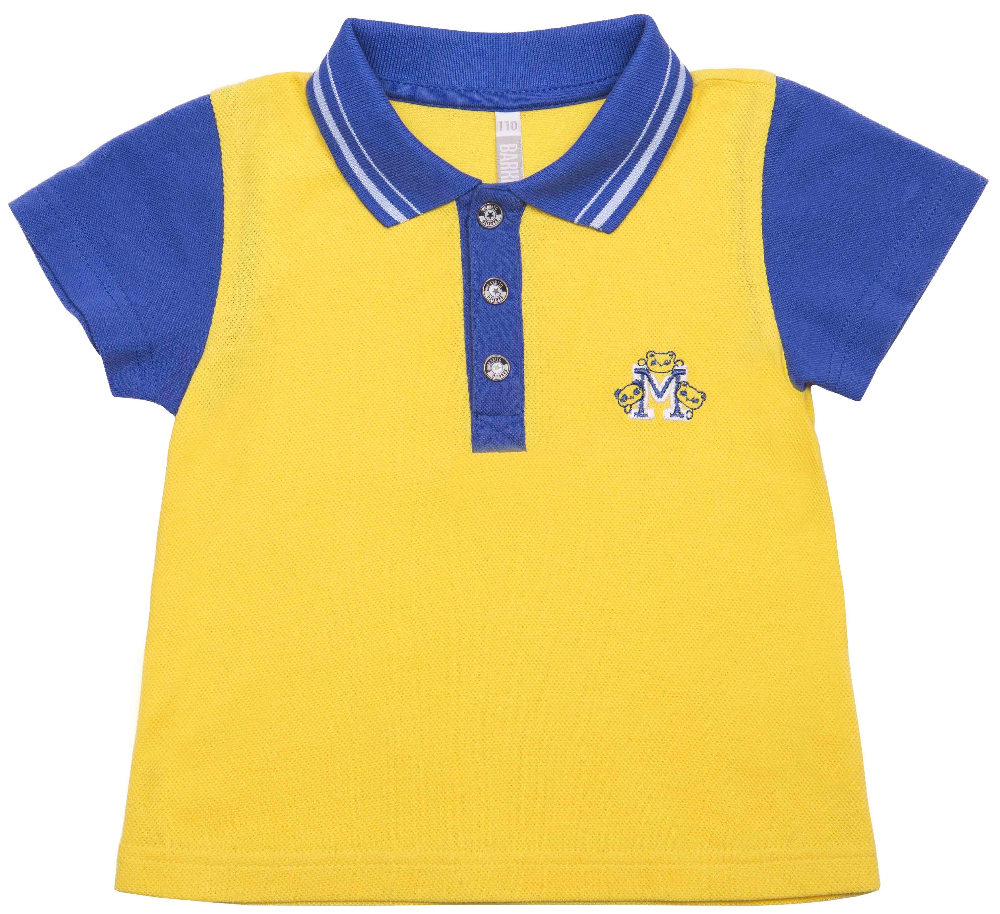 Купить Футболки, Футболка поло для мальчика Barkito Котики желтая, Узбекистан, желтый, Мужской