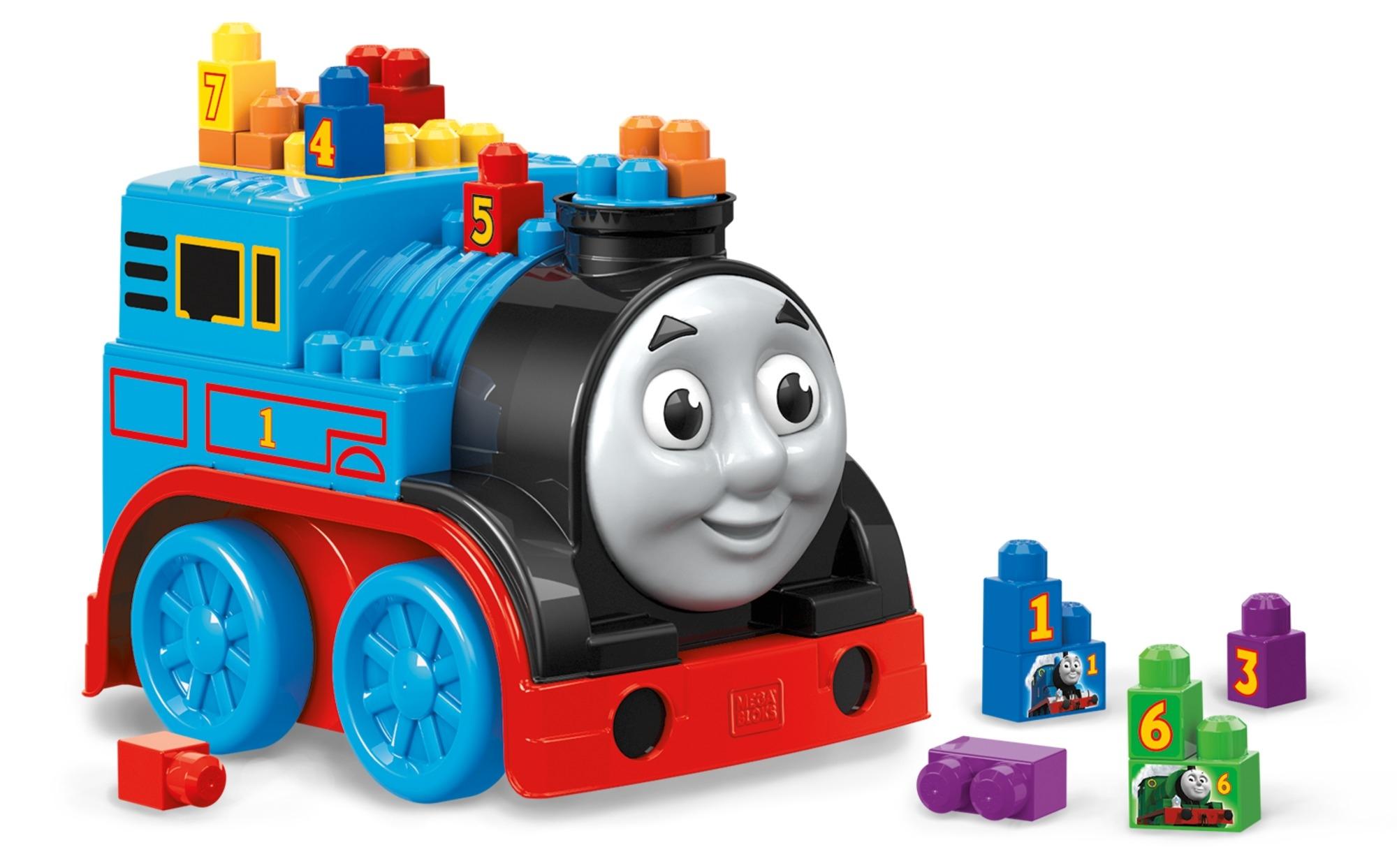 все цены на Конструкторы для малышей Mega Bloks Обучающий конструктор Mega Bloks «Томас и друзья: большой паровоз»
