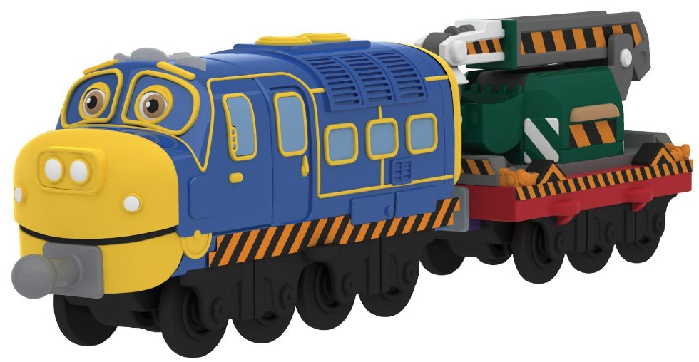Chuggington CHUGGINGTON Паровозик Брюстер с прицепом Сhuggington tomy паровозик брюстер chuggington