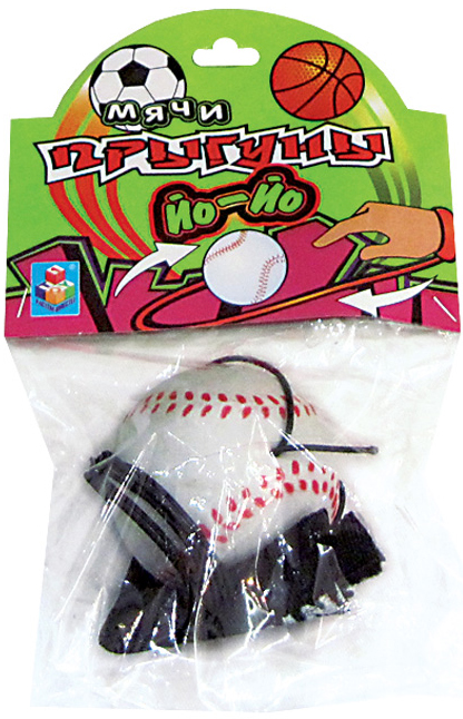 Мячи 1toy Мяч-прыгун 1TOY «Йо-Йо» спорт белый 5,5 см игра 1toy сумочка furby волна т57556