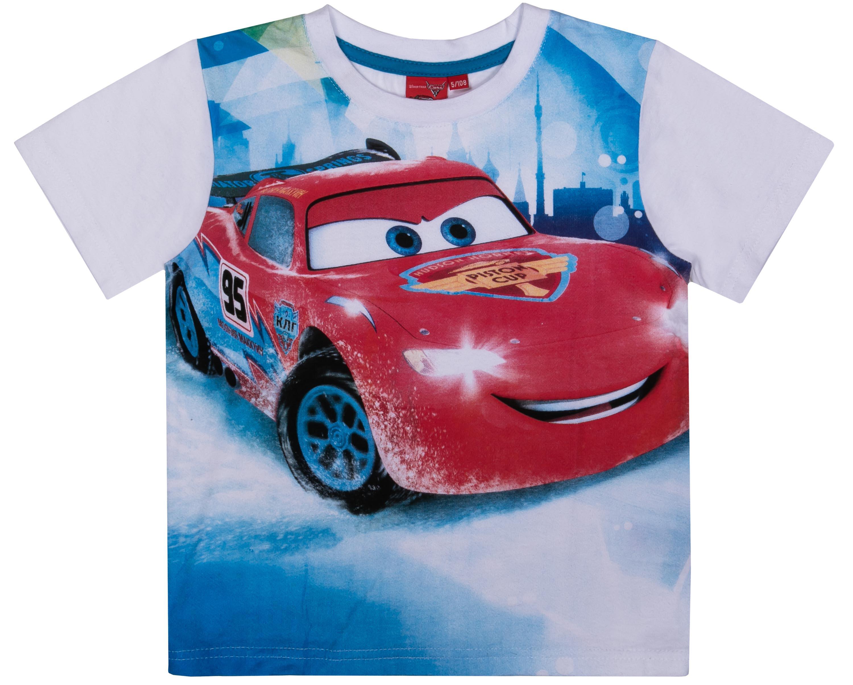 Футболки Barkito Футболка с коротким рукавом для мальчика Cars, белая patrizia pepe хлопковая футболка с коротким рукавом