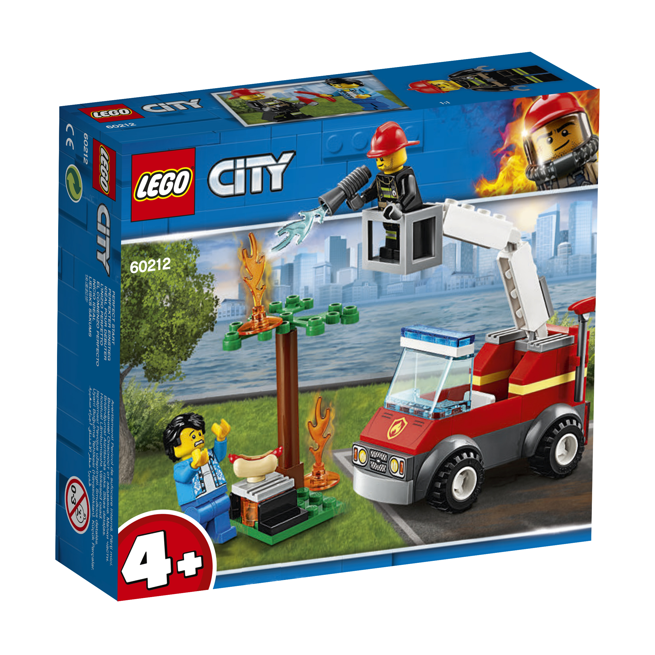 LEGO LEGO Fire 60212 Пожар на пикнике model building kits compatible with lego city fire car 586 3d blocks educational model