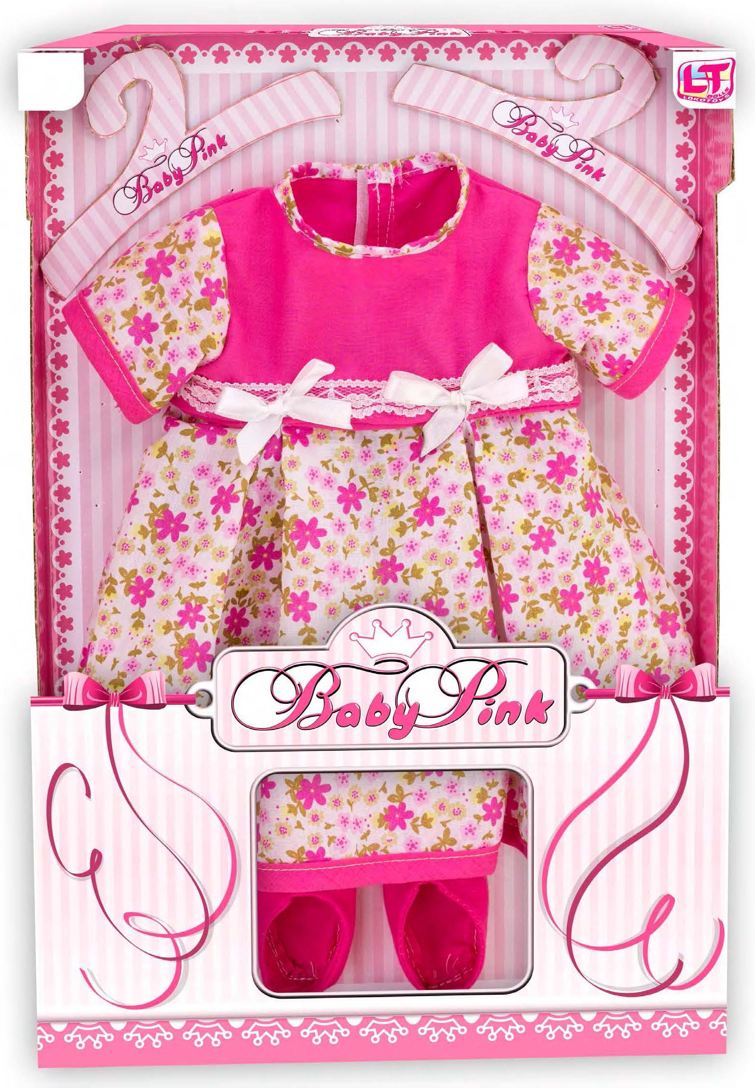 Одежда для кукол LokoToys Одежда для куклы девочки Baby Pink - 98224 куклы и одежда для кукол famosa кукла нэнси волшебный поцелуй