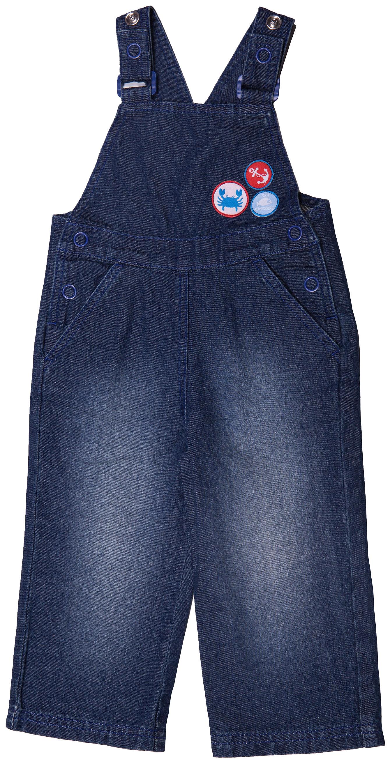 Полукомбинезон джинсовый для мальчика Barkito Деним полукомбинезон barkito джинсовый