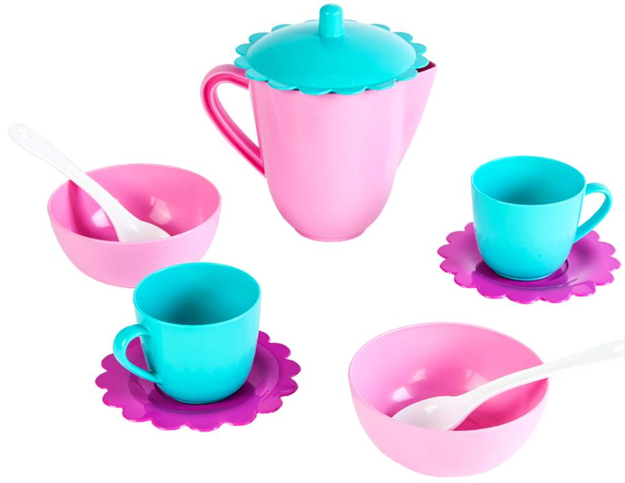 Набор чайный Наша игрушка «Зайка» в сетке 10 пр. керамический ocean reef gongfu чай gaiwan с фильтром и крышкой два чашки чайный набор 3 шт