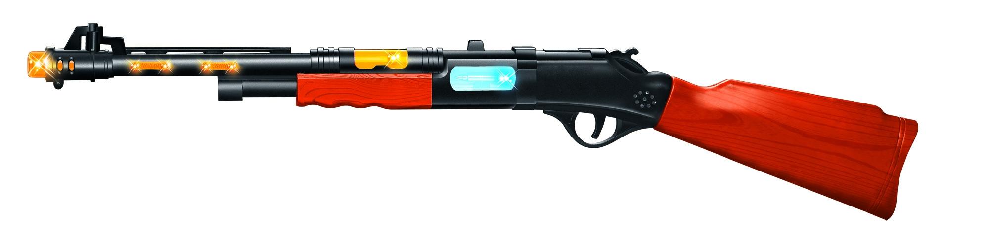 Игрушечное оружие и бластеры ABtoys Ружье охотничье со светом и звуком