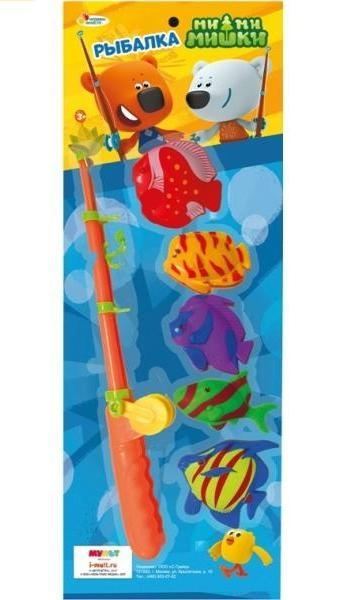 Игрушки для ванны Играем вместе Игра Играем вместе «Рыбалка Мимимишки» 5 рыб