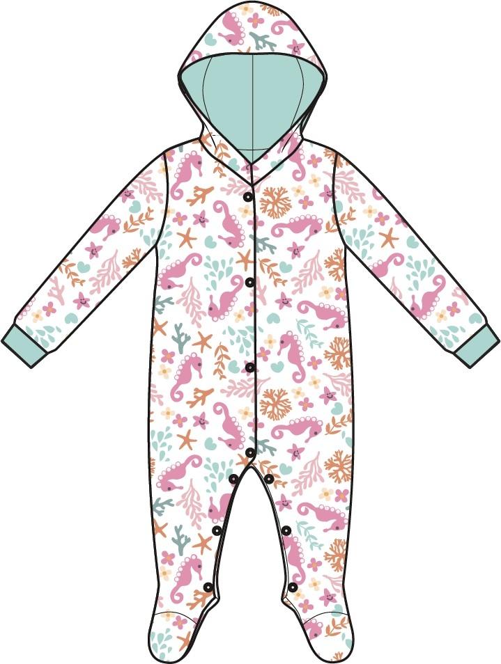 Купить Первые вещи новорожденного, Маленькая сирена белый с рисунком, Barkito, Узбекистан, Женский