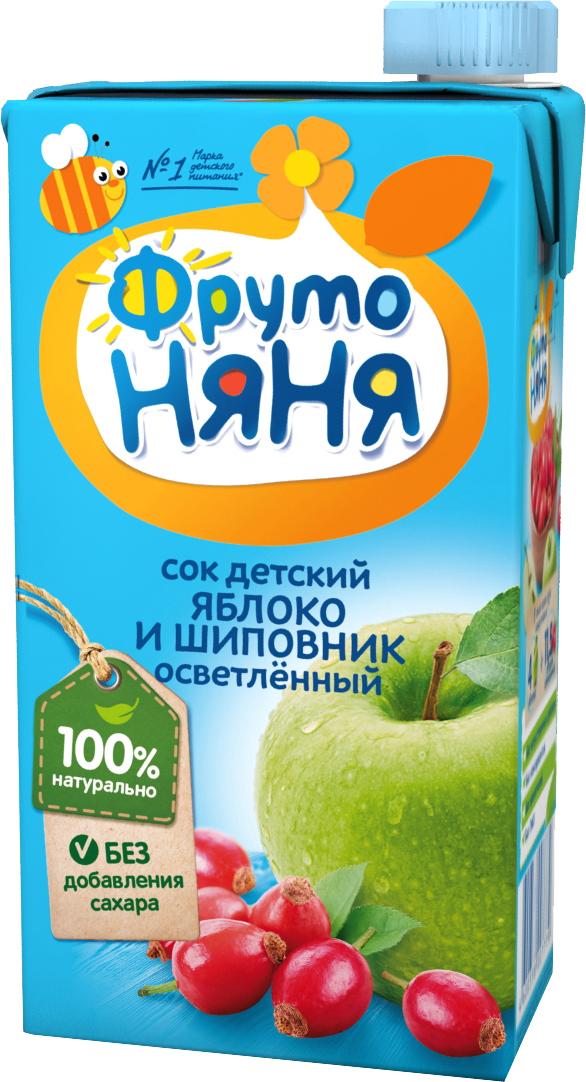 Напитки Фрутоняня Яблоко и шиповник с 3 лет 500 мл сок агуша яблоко и персик с мякотью с 3 лет 500 мл