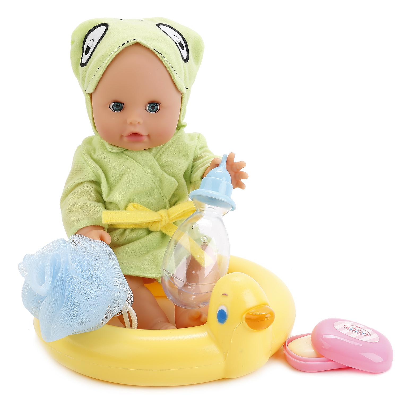 Пупсы Карапуз Пупс Карапуз пьет и писает куклы карапуз пупс карапуз 20см 3 функции пьет писает закрывает глазки в ванне с аксессуарами
