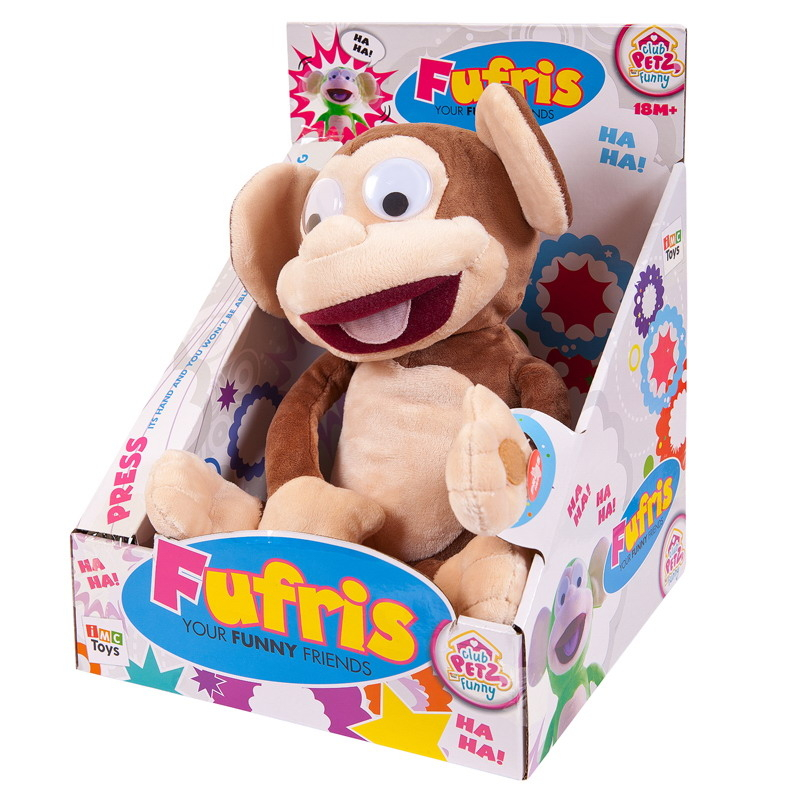 Интерактивная мягкая игрушка IMC toys Обезьянка Fufris интерактивная игрушка imc toys обезьянка fufris интерактивная звуковые эффекты смеётся и подпрыгивает 94161 зеленая