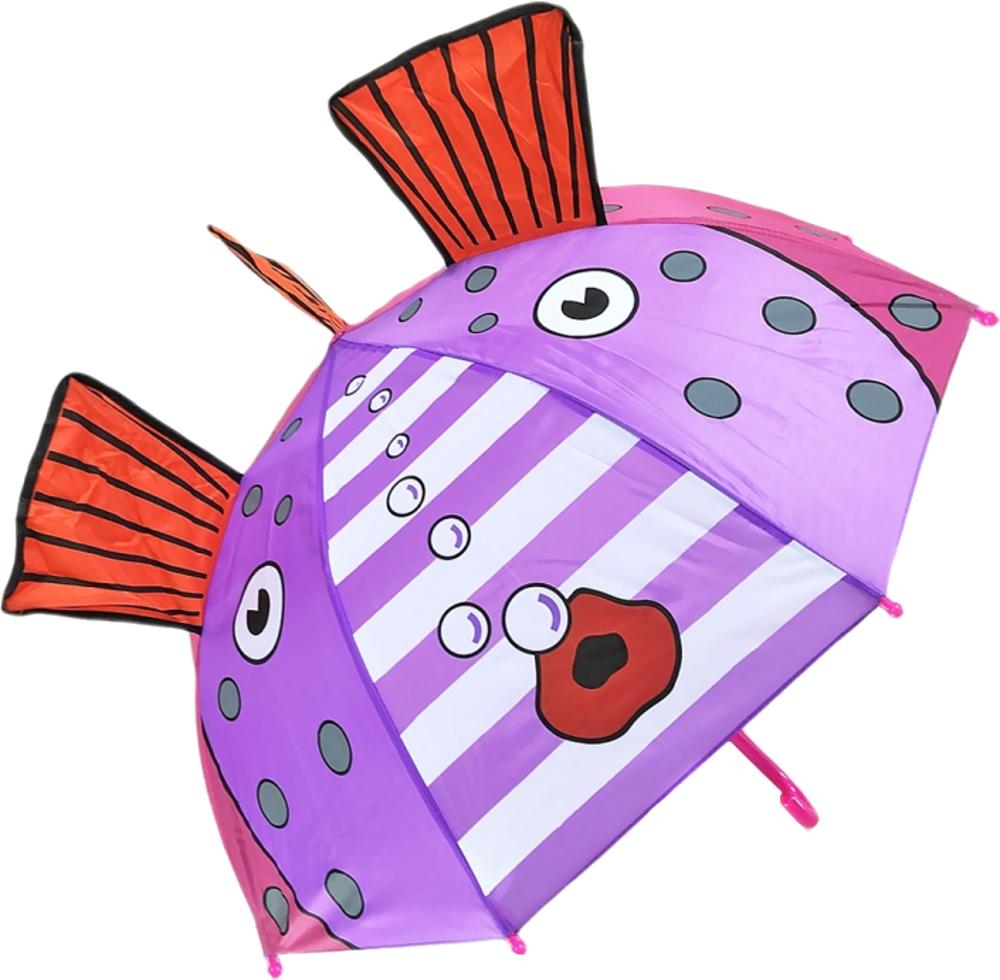 Купить Зонт, Золотая рыбка, 1шт., Mary Poppins 53586, Китай, фиолетовый, красный, розовый, Женский