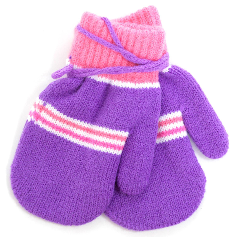 Купить Варежки и перчатки, Варежки для девочки Принчипесса, разноцветные, Китай, фиолетовый, розовый, белый, Женский