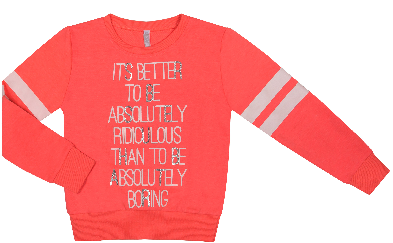 Купить Джемпер-толстовка для девочки, Оранжевое настроение, 1шт., Barkito 45Y-26037MKOR, Индия, red, Женский
