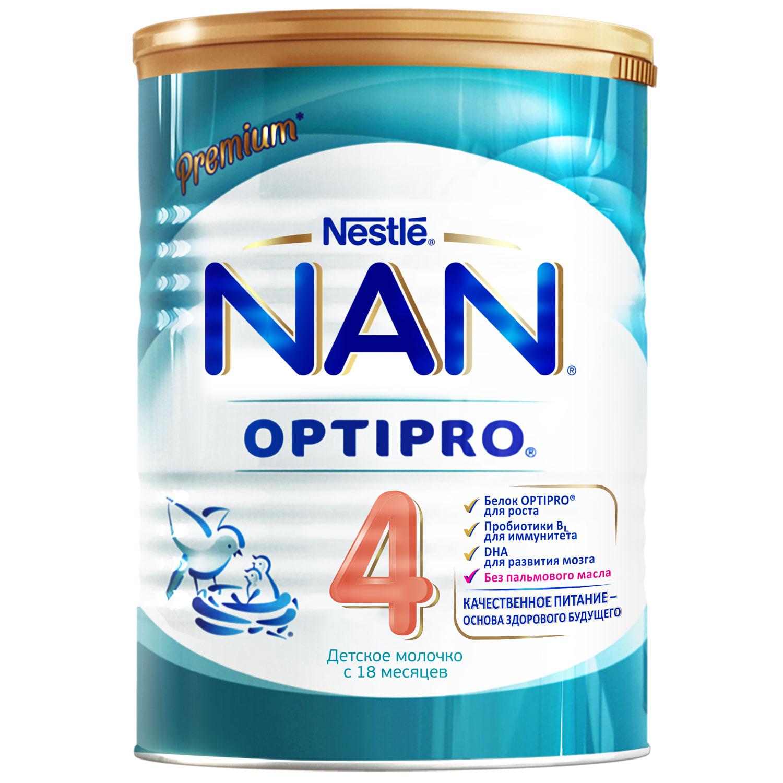 Сухие NAN NAN (Nestlé) 4 Optipro (с 18 месяцев) 400 г детское молочко nan 4 optipro с 18 мес 800 г