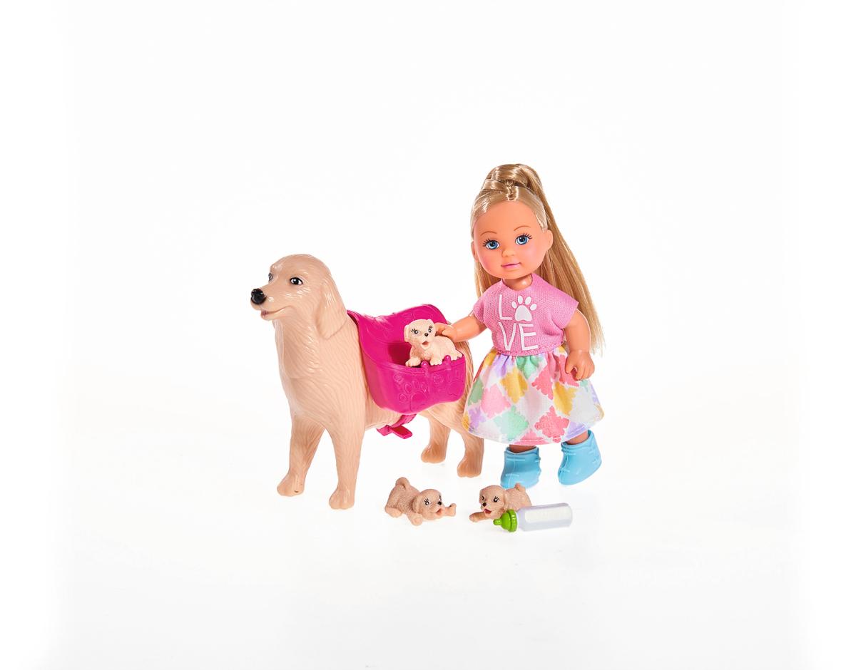 цена на Кукла simba Еви с собачкой и щенками