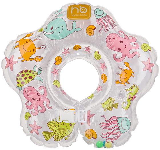 коврики для купания Коврики и круги Happy baby Круг для купания на шею Happy Baby «Aquafun» 3-24 мес.