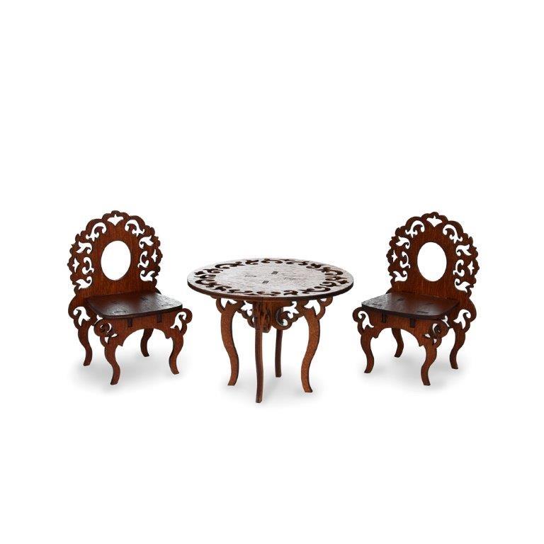 Мебель для кукол ЯиГрушка Стол и два стула