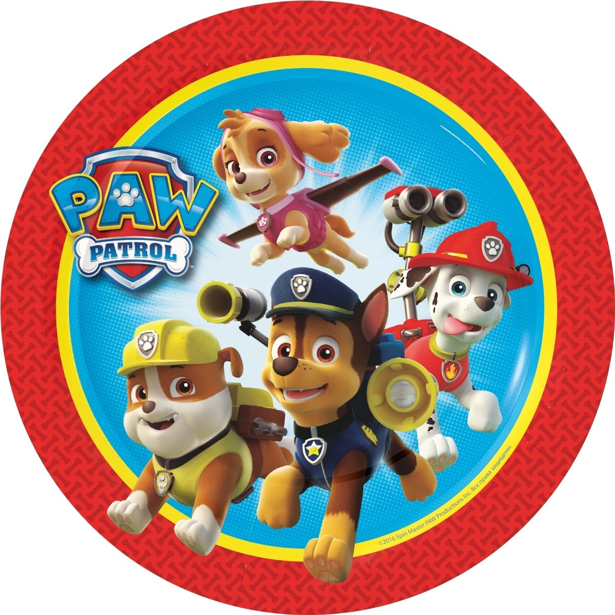 Paw Patrol Paw Patrol Тарелки одноразовые Paw Patrol 6 шт. cute long sleeve paw patrol t shirt pants pajamas for boys