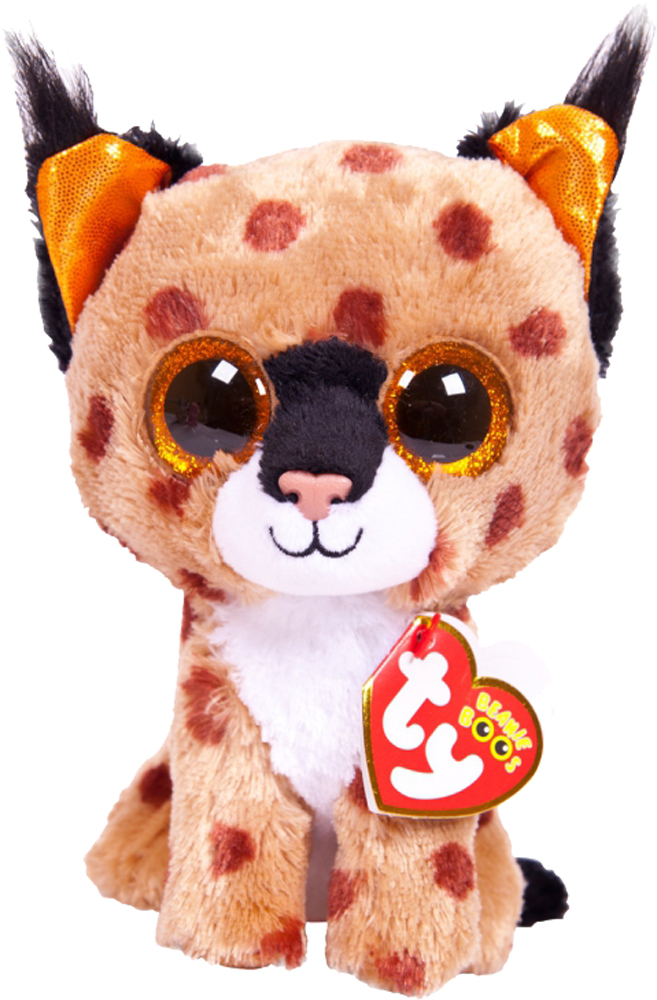 цена на Мягкая игрушка TY Beanie Boo's Рысенок Buckwheat 15 см