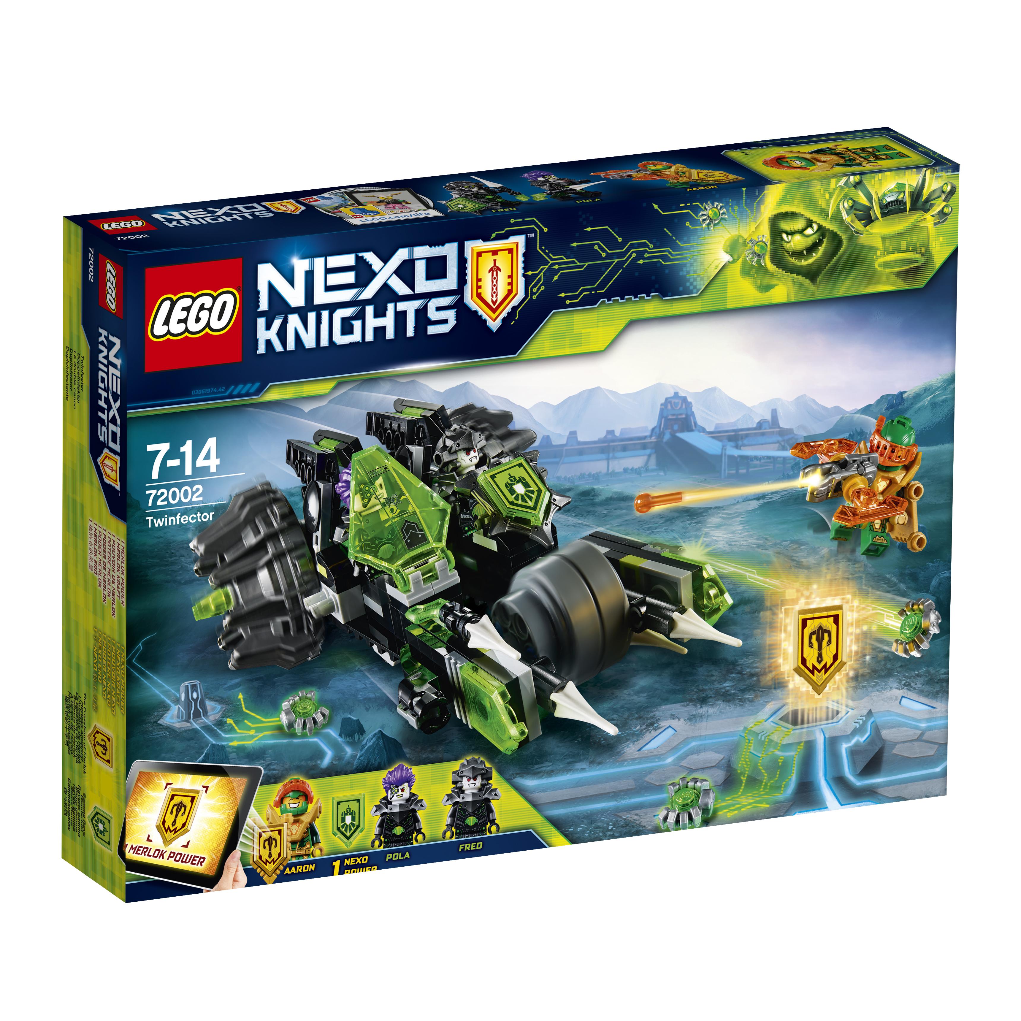 Конструктор LEGO Nexo Knights 72002 Боевая машина близнецов lepin nexo knights the fortrex combination marvel building blocks kits toys compatible legoe nexus