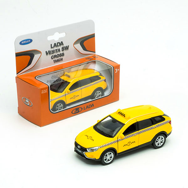 Машина Welly Lada Vesta SW Cross. Такси, 1:34-39 машинка welly lada vesta sw cross 1 34 39