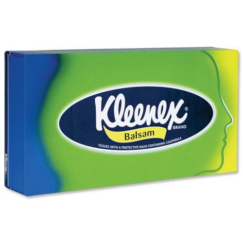 Прокладки и салфетки Kleenex Салфетки бумажные в коробках Balsam клинекс салфетки в коробке balsam 80шт