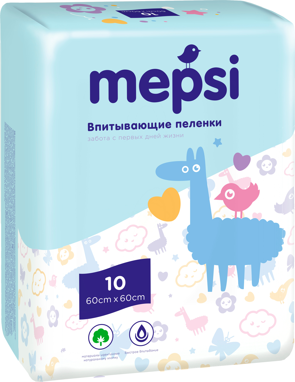 Фото Пеленки Mepsi Пеленки впитывающие Mepsi 60х60 10 шт.