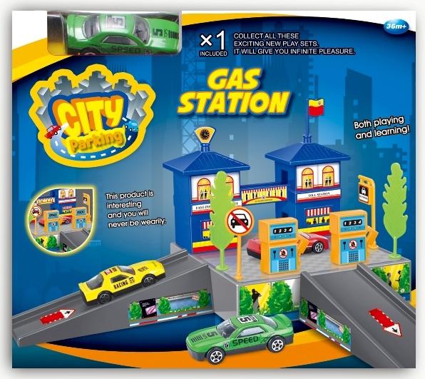 Гаражи и игровые наборы Dave Toy Dave Toy игровой набор dave toy заправочная станция с 1 машинкой