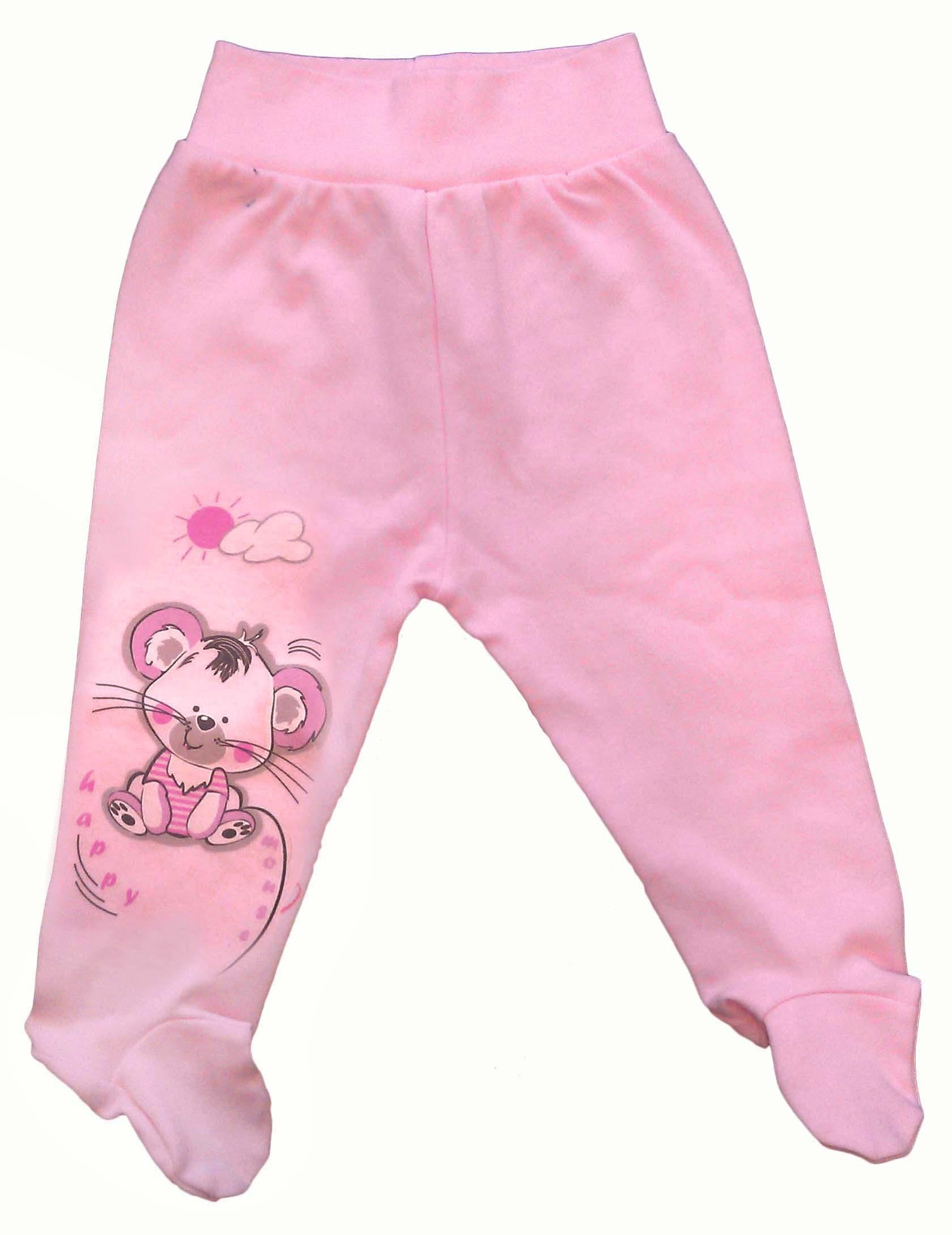 Первые вещи новорожденного Дамонт Ползунки Мышки Дамонт Розовые ползунки емае