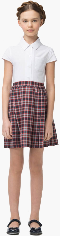 Форма для девочек Смена Блуза для девочки Смена, белая блуза