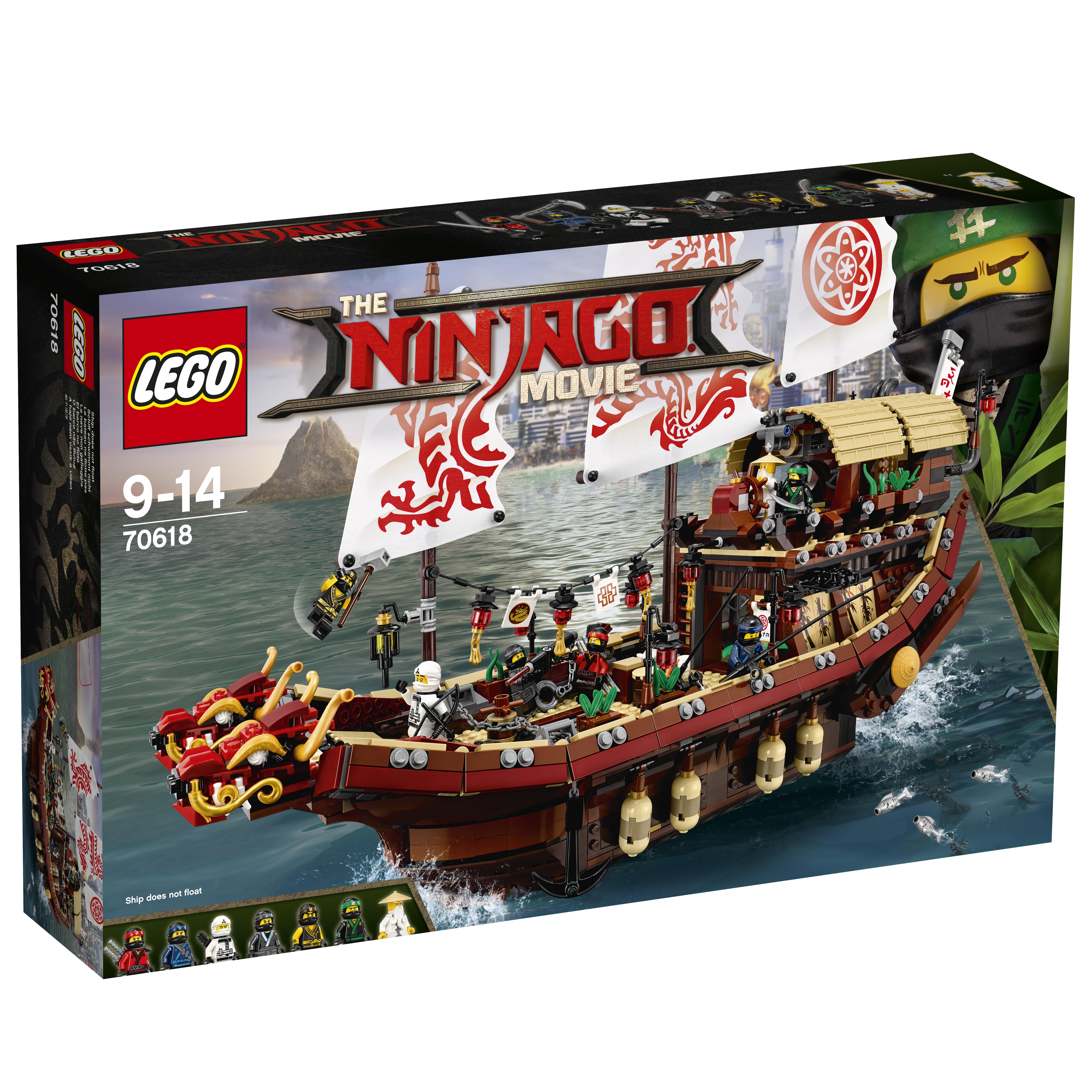 Конструктор LEGO LEGO Ninjago 70618 Летающий корабль Мастера Ву конструктор lepin ninjag летающий корабль мастера ву 2455 дет 06057