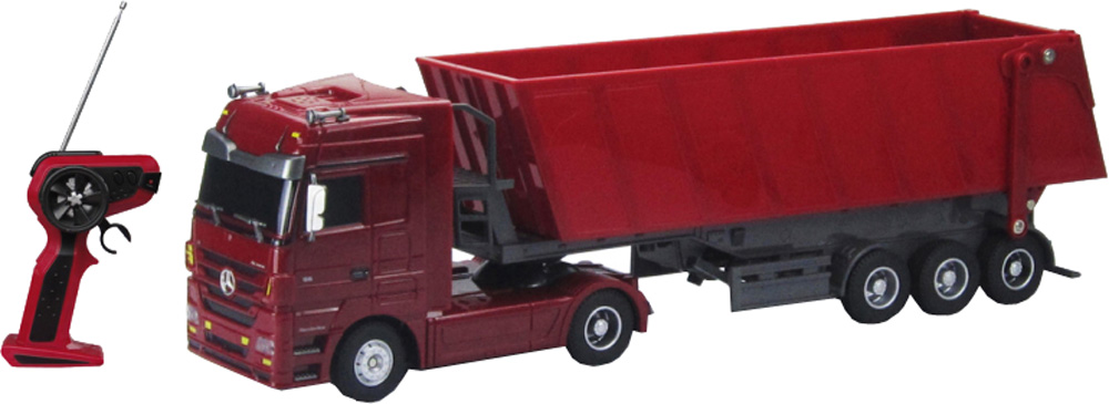 цена на Игрушки на радиоуправлении Наша игрушка Mercedes Benz Actros 1:32 красный