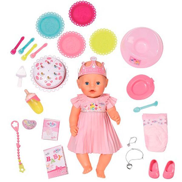 Пупсы BABY born Нарядная с тортом игрушка baby born лошадка с жеребенком дисплей baby born