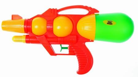 Водяной пистолет Тилибом с 2 отверстиями 30 см водный пистолет тилибом с помпой 45см красный для мальчика