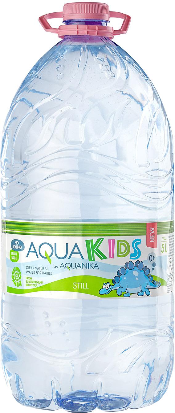 Вода AquaKids Акваника с рождения 5 л вода святой источник без газа 1 5 л 6шт