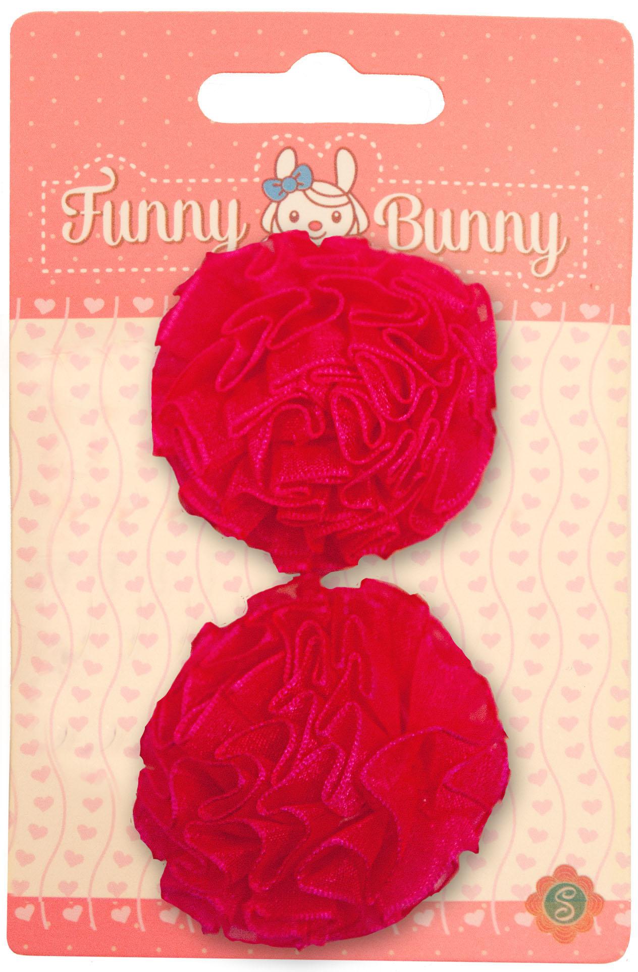 Заколки для волос Funny Bunny Розовые банты невидимка для волос funny bunny розовые цветы 2 шт