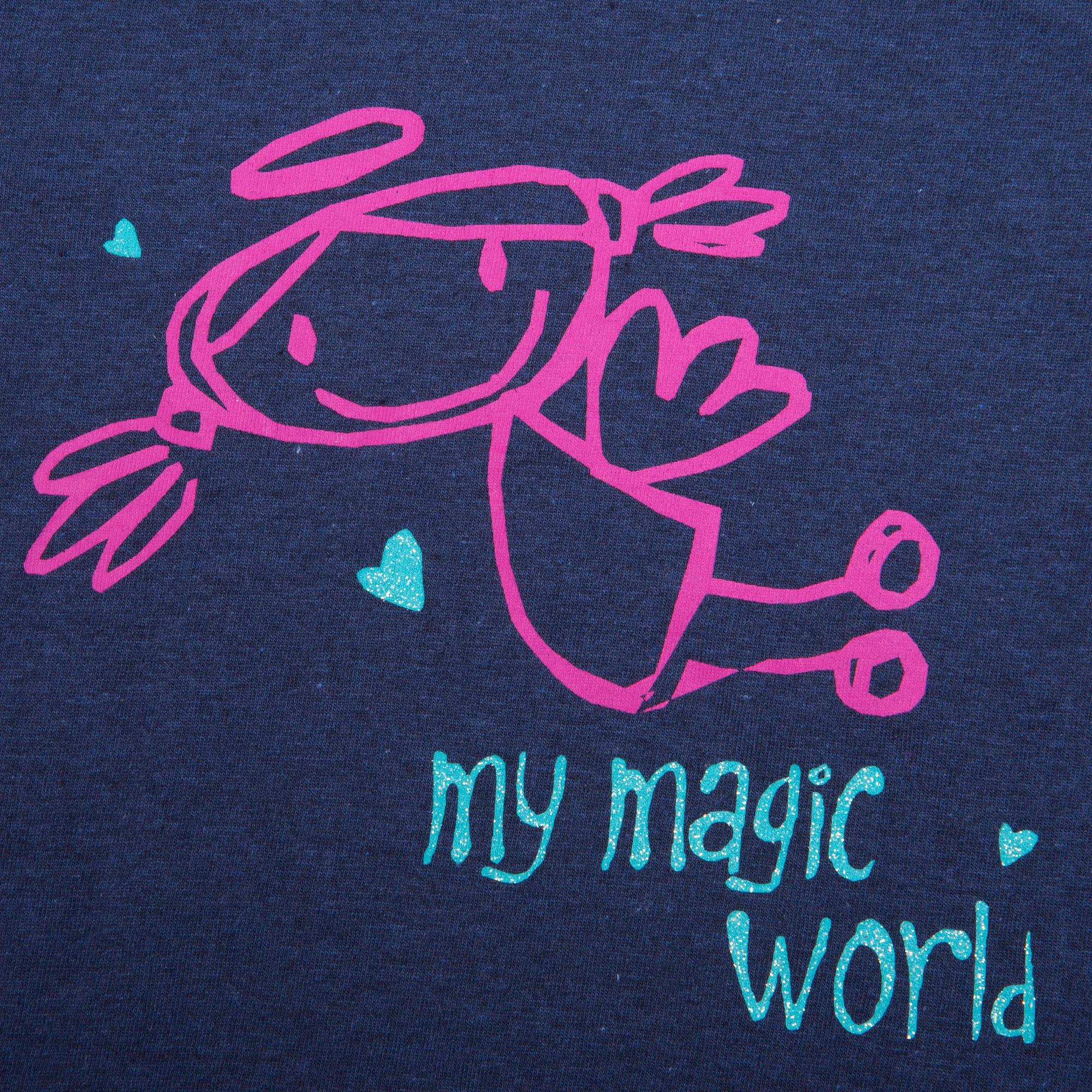 Футболки и топы Barkito Футболка с длинным рукавом для девочки Barkito, Принцесса 1, синяя футболки barkito футболка с длинным рукавом для мальчика barkito монстр трак синяя