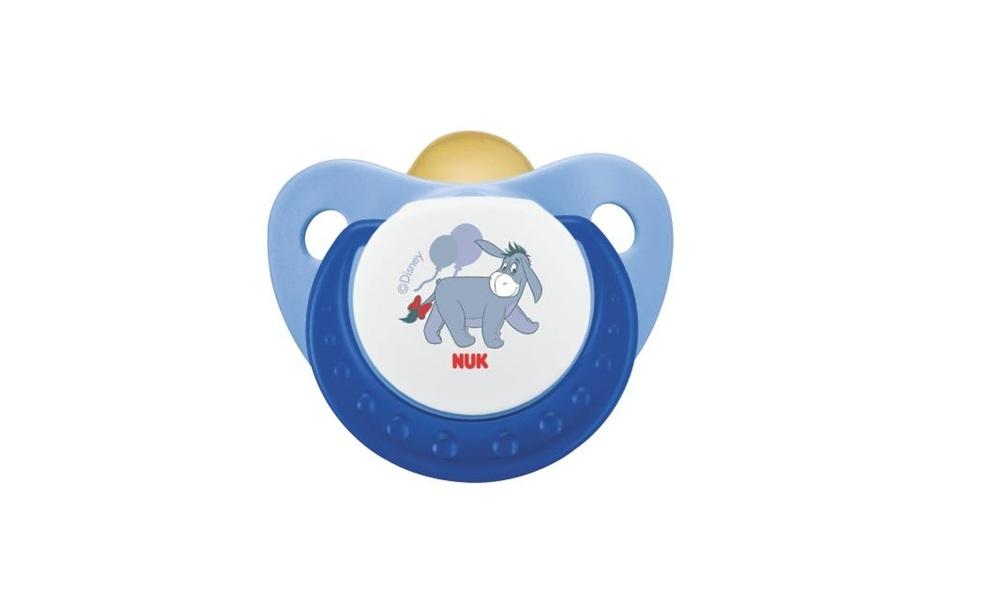 Пустышка NUK Латексная успокаивающая TRENDLINE Disney, размер 1 пустышка латексная nuk успокоительная софт размер 2 синяя с голубым кольцом