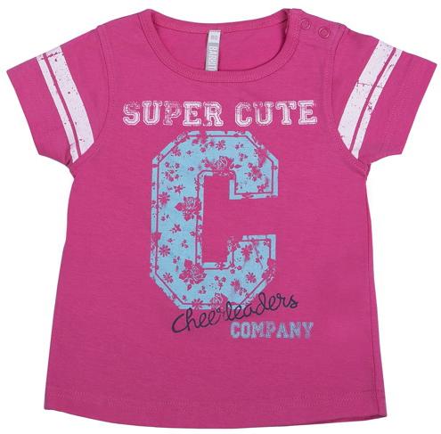 Футболка для девочки, Спортивная кроха, 1шт., Barkito 90213 X420 75, Бангладеш, pink  - купить со скидкой