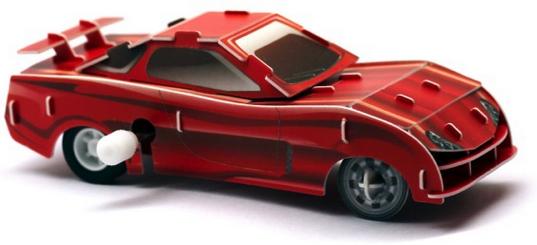 Наборы игрушечных инструментов UF Заводной 3D-пазл UF «Красный гонщик» конструкторы uf заводной 3d пазл диплодок