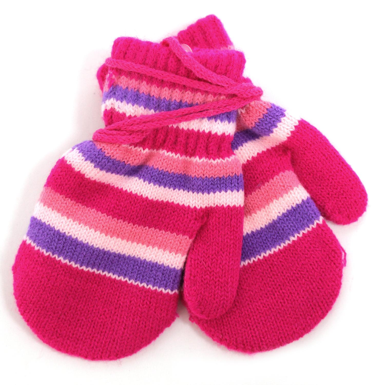 Купить Варежки и перчатки, Варежки для девочки Принчипесса, разноцветные, Китай, малиновый, розовый, фиолетовый, Женский
