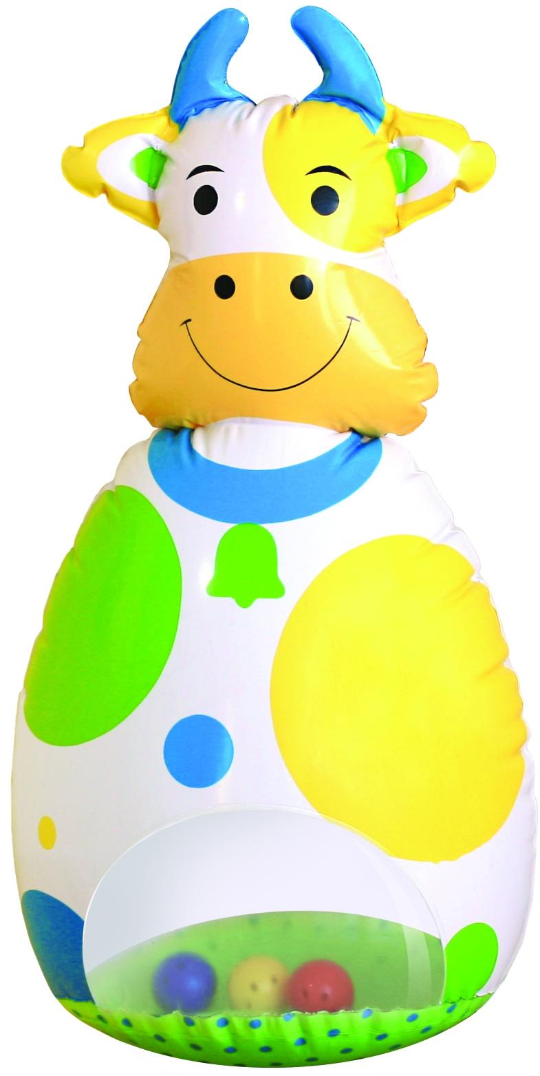 Неваляшки для малышей LUBBY Коровка-Неваляшка игрушки для детей в 5 месяцев