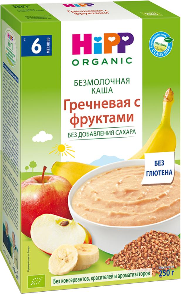 Купить Каша HiPP безмолочная гречневая с фруктами (с 6 месяцев) 250 г, 1шт., HIPP 2907, Хорватия